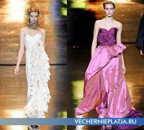 Длинное платье с воланами в коллекции 2011-2012 Badgley Mishka