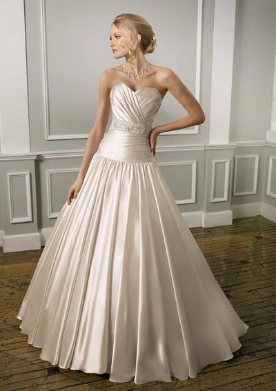 свадебные платья с заниженным корсетом