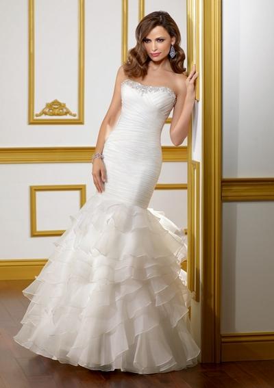 Свадебные платья с корсетом русалка