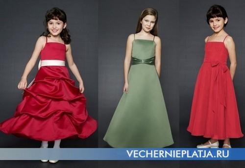 Элегантные детские вечерние платья фото