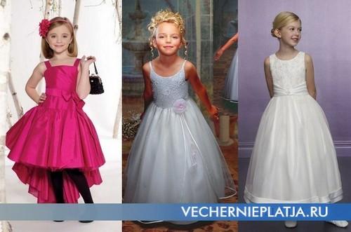 Вечерние нарядные платья для девочек фото