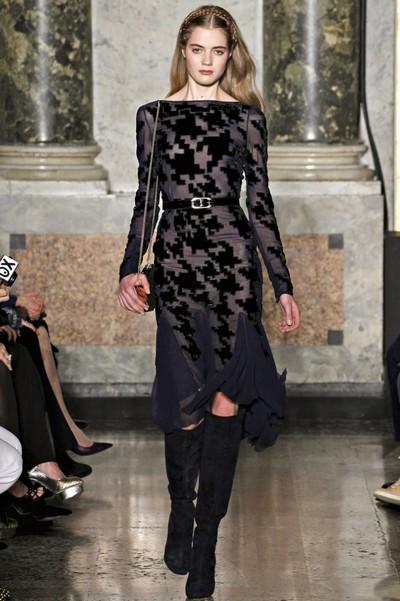 Платье с узором гусиная лапка Осень-Зима 2012-2013 от Emilio Pucci