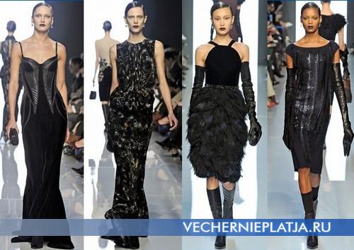 Черные платья на Новый год 2013 от Bottega Veneta