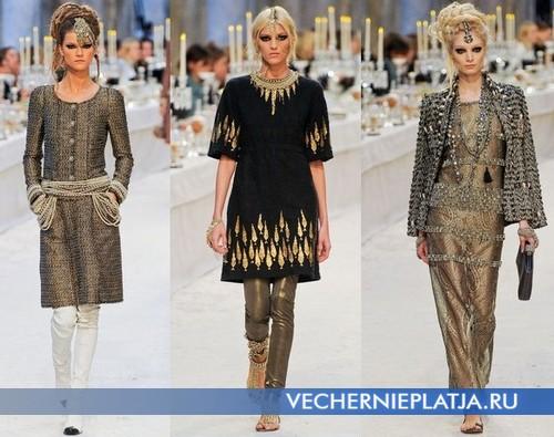 Платья на Новый год 2013 в восточном стиле фото, коллекция Осень-Зима 2012-2013 от Chanel