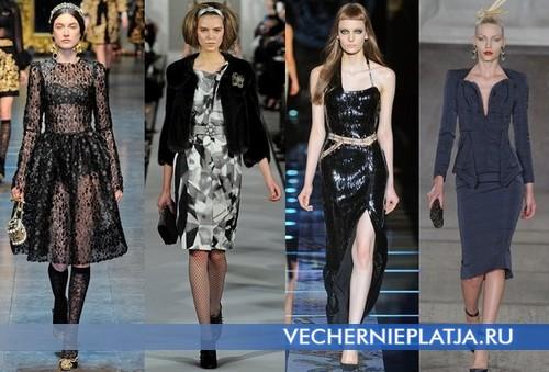 Вечерние новогодние платья 2013 - украшения и аксессуары