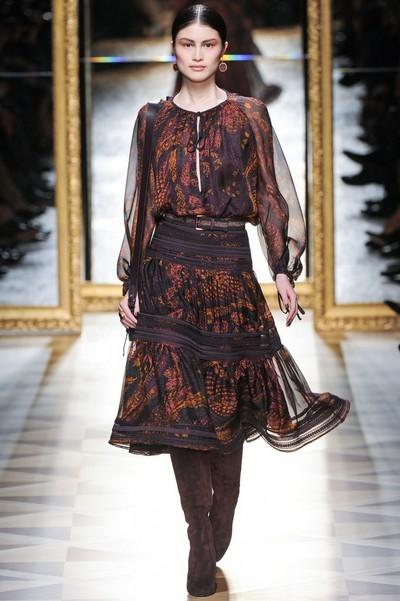 Платья миди на осень 2012 от Salvatore Ferragamo