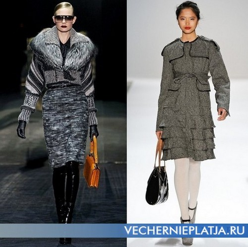 Шерстяное серое платье Gucci, Nanette Lepore
