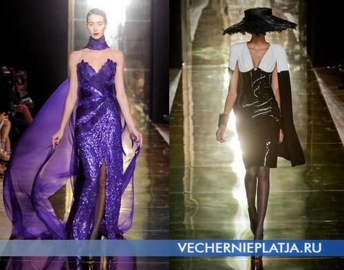 Вечерние платья с глубоким декольте от Georges Chakra Осень-Зима 2012-2013