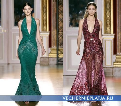 Длинные вечерние платья Осень-Зима 2012-2013 с вытянутыми глубокими вырезами от Zuhair Murad