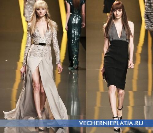 Платья с V-образным глубоким вырезом Осень-Зима 2012-2013 от Elie Saab