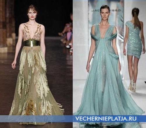 Как правильно носить платья с глубоким вырезом фото