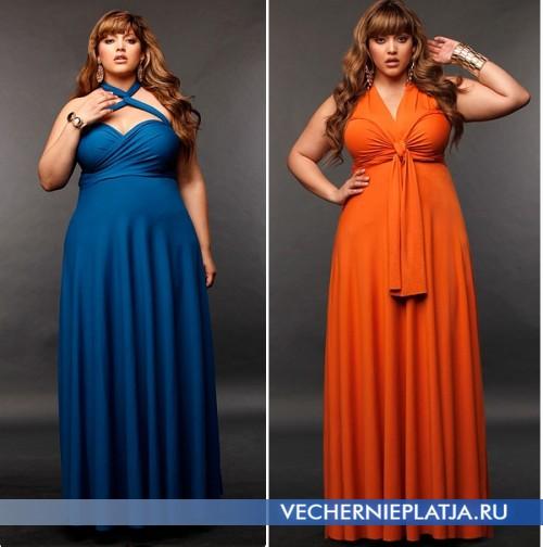Длинное платье-трансформер для полных Marilyn
