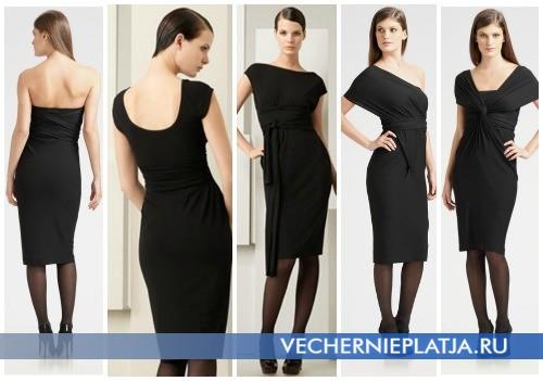 Маленькое черное платье-трансформер от Донны Каран