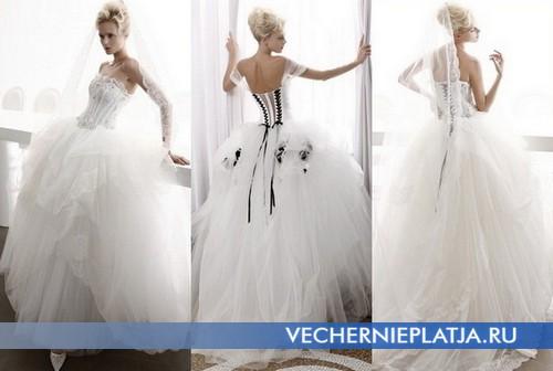 Свадебные платья с черными вставками