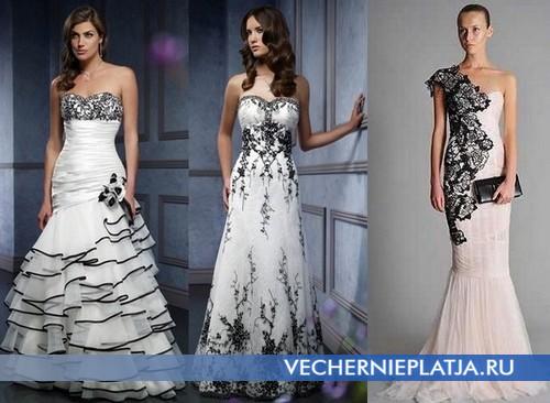 Свадебные платья с черным кружевом