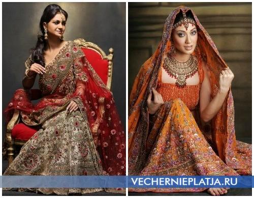 Вышивка на платье сари