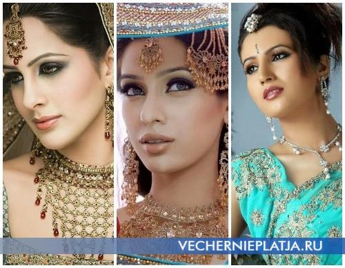 Макияж под индийское платье сари