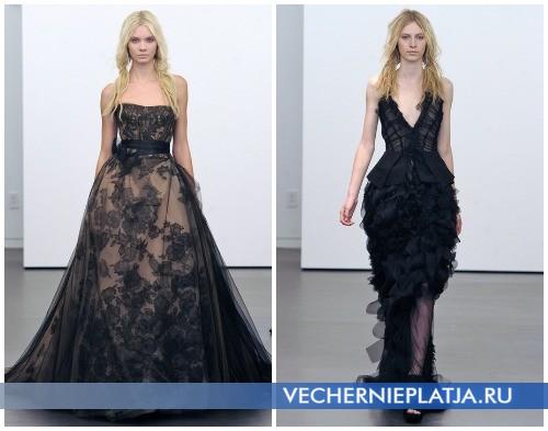 Черные свадебные платья на осень 2012 от Веры Вонг