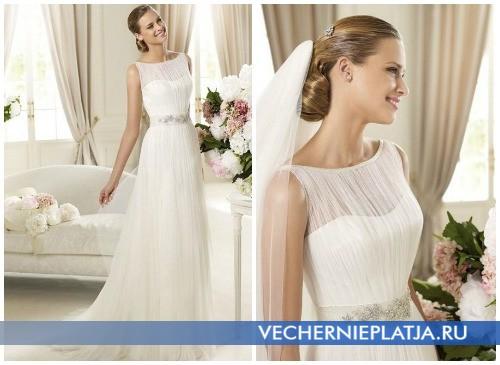 Свадебные платья на осень 2012 с декорированным поясом