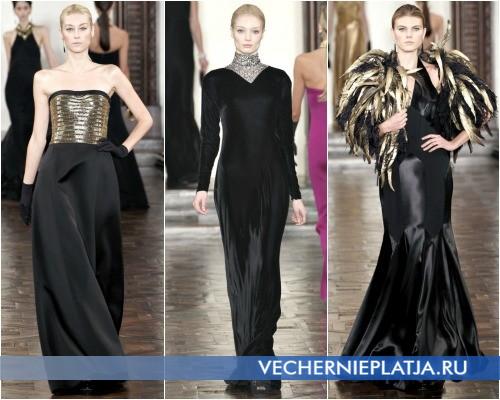 Красивые вечерние черные платья Осень-Зима 2012-2013 фото