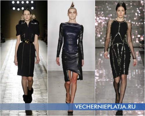 Деловые черные платья для офиса Осень-Зима 2012-2013 фото
