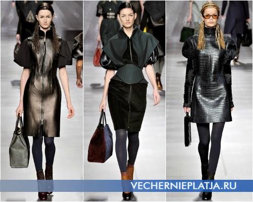 Короткие модные черные платья от Fendi – на фото коллекция Осень-Зима 2012-2013