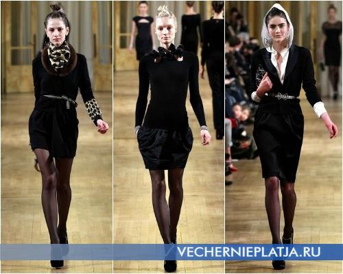 Оригинальные черные платья от Alexis Mabille – коллекция Осень-Зима 2012-2013