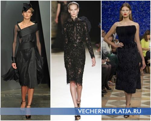 Маленькое черное платье 2012 2013 фото – модели Donna Karan, Elie Saab, Christian Dior