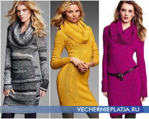 Вязаное платье-свитер Осень-Зима 2012-2013 – на фото модели Victoria's Secret