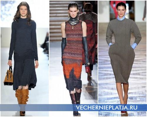 Платье-свитер миди в коллекциях Осень-Зима 2012-2013 – на фото модели Lacoste, Missoni, Stella McCartney