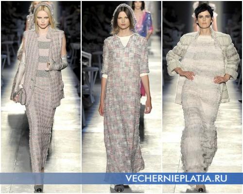 Длинные платья свитера от Шанель, коллекция Осень-Зима 2012-2013