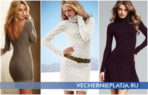 Модные платья-свитера Осень-Зима 2012-2013 – на фото модели Victoria's Secret