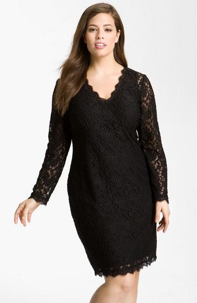 Кружевное платье Adrianna Papell для полных фото