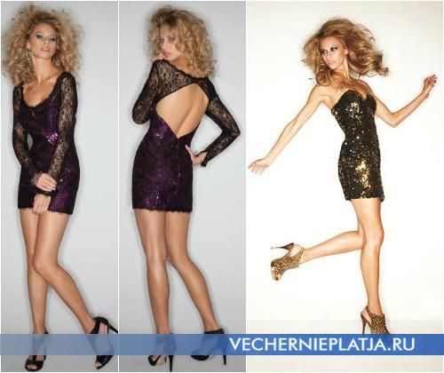 Мини платья на выпускной 2013 фото
