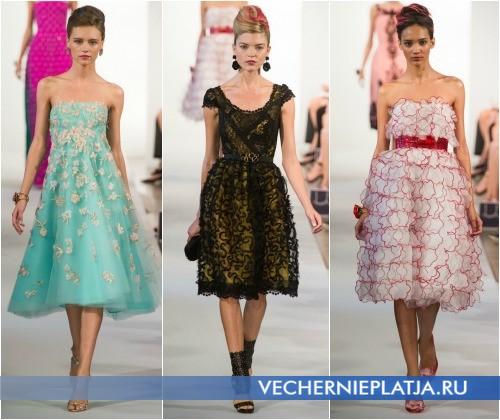 Выпускные платья в стиле ретро 2013 от Oscar de la Renta