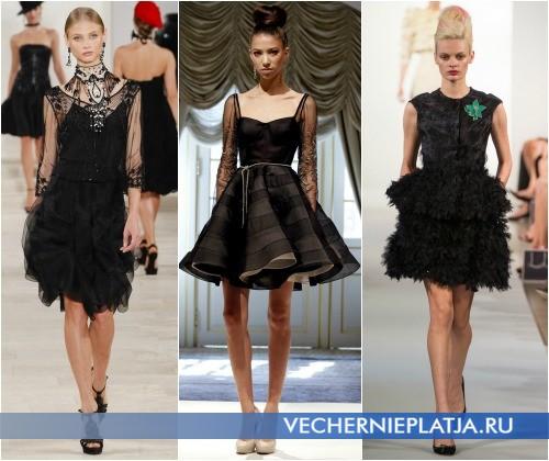 Маленькое черное платье на выпускной фото - Ralph Lauren, Dennis Basso, Oscar de la Renta