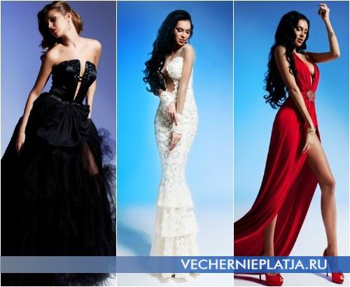 Платья с глубоким вырезом декольте Олеси Малинской