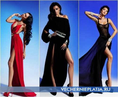 Длинные вечерние платья Малинской с разрезами фото