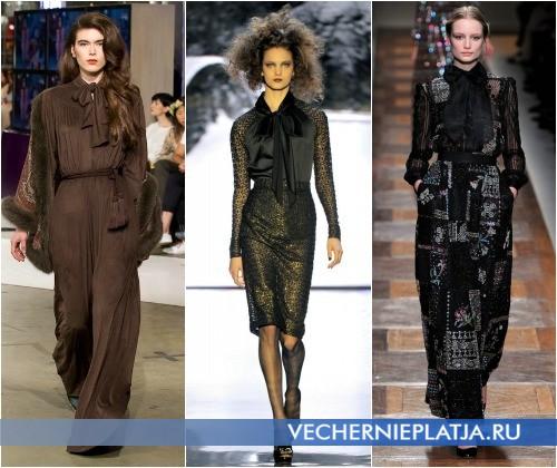 Платье с воротником-бантом в коллекциях A LA RUSSE Anastasia Romantsova, Badgley Mischka, Valentino