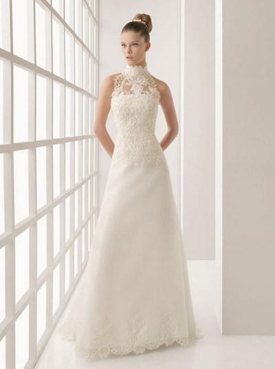 свадебные платья с кружевным воротником