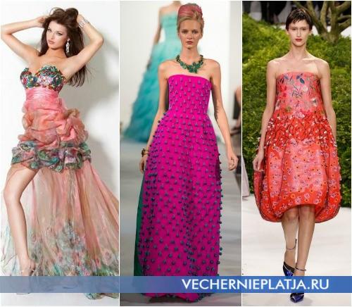 Розовые платья на выпускной 2013 фото Jovani, Oscar de la Renta, Christian Dior
