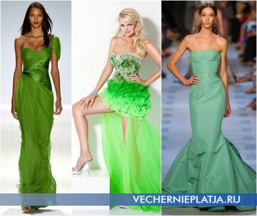 Зеленые платья на выпускной 2013 года фото Carlos Miele, Jovani, Zac Posen