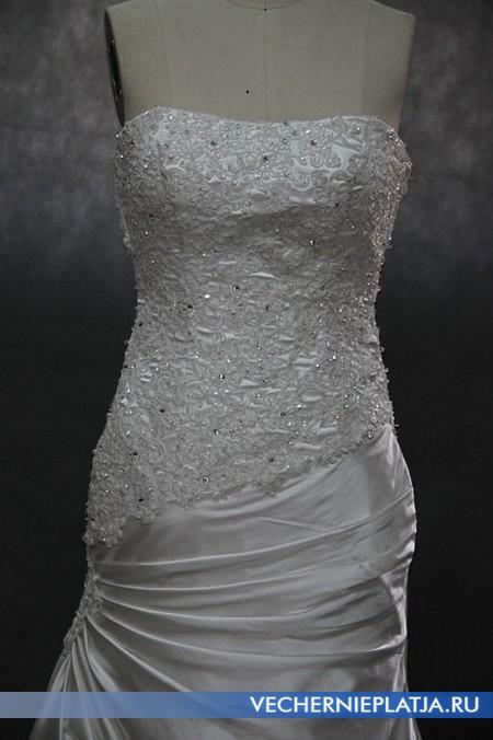 Свадебное платье-бюстье с вышивкой из Китая купить