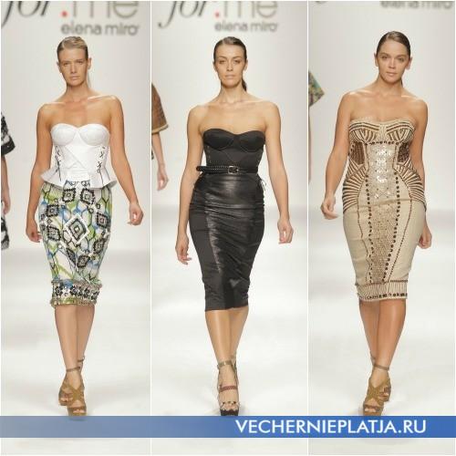 Платья-бюстье для полных от Елены Миро 2013