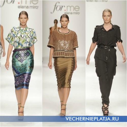 Мода 2013 для полных женщин, на фото костюмы Elena Miro