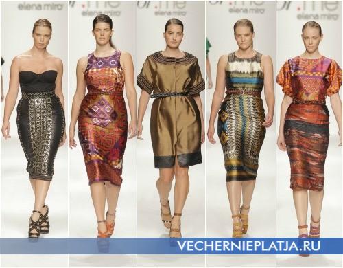 Модные платья для полных 2013 от Elena Miro