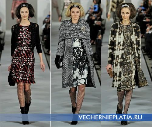 С чем носить платье-футляр для офиса зимой – на фото Oscar de la Renta Осень-Зима 2012-2013