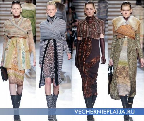 С чем носить трикотажные платья зимой 2012-2013 – на фото коллекция Missoni