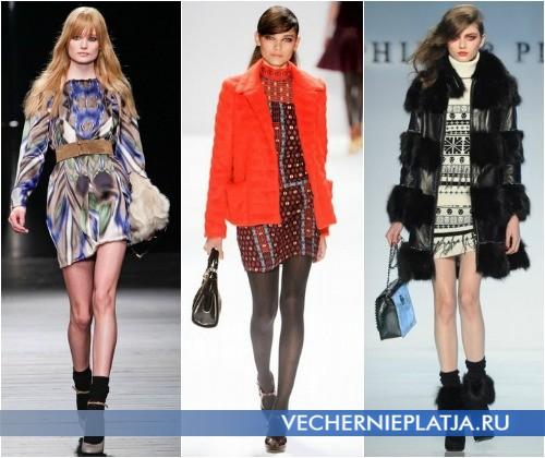 С какой сумочкой носить платья этой зимой – на фото модели Iceberg, Nanette Lepore и Philipp Plein
