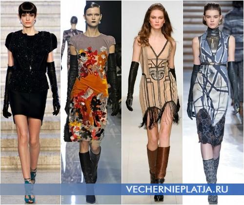 С чем носить платье с коротким рукавом зимой – на фото модели Antonio Berardi, Bottega Veneta, Issa, Missoni